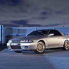 Silver Nissan R32 Skyline GTR #3 by John Jovic