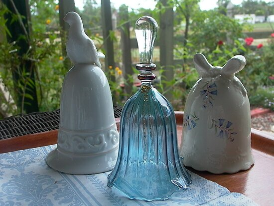 Three specimens from my little collection of ceramic etc bells by BronReid