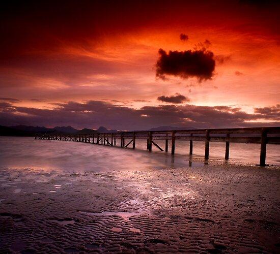 Matarangi Wharf at Sunset by Aaron Radford