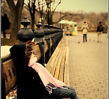 Chill-in in Central Park by Melinda  Ison - Poor
