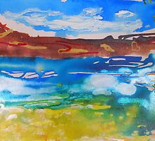 Outback Waterhole  by gillsart
