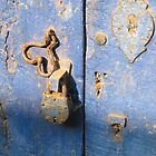 Blue Door in Fontainhas, Panaji, Goa by Rachel  Devenish Ford