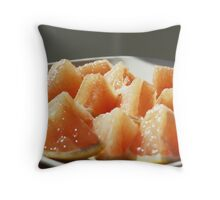 Plate of Juicy, Citrus Triangles Throw Pillow