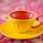 Yellow teacup by Zoë Power