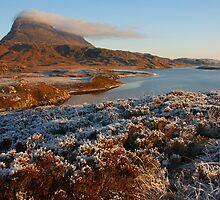 Mount Suilven with a beard of clouds by christopher363