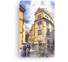 Prague Karlova Street Hotel U Zlate Studny Metal Print
