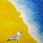 Seagull at the Beach  by Debbie  Widmer