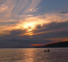 Returning Fishers - Sunset off Gower Point by Carl Olsen