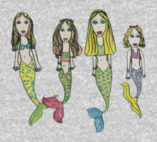 Tane's Drawing of My Girls as Mermaids Kids Clothes