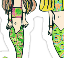 Tane's Drawing of My Girls as Mermaids Sticker