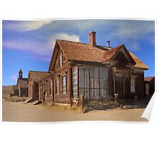 Abandoned building from the California Gold Rush Poster