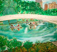 Bow Bridge Central Park by Felix  Zapata