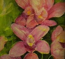Pink orchids by angelatrencsak