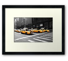 New York Yellow Cabs Framed Print