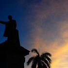 Silhouette of Jose Marti, Cienfuegos, Cuba by buttonpresser