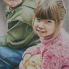 """Little Moments"" Colored Pencil Portrait by Charlotte Yealey"