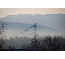 Morning Mist - Lake Placid Photographic Print