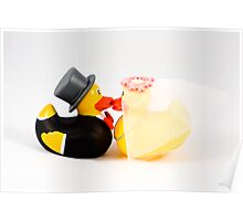 Wedding ducks in love! Poster