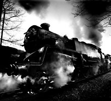 Steam Train Oakworth Loco 80002 by Yorkshirepics