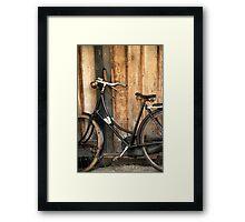 Simple Pleasure Of Bike Ride Framed Print