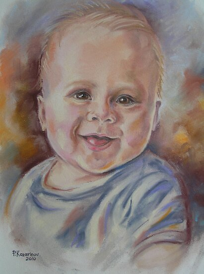 Portrait Of a Little Boy by Paulina Kazarinov