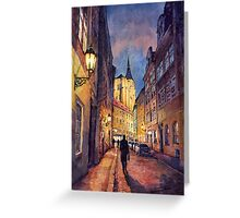Prague Husova street Greeting Card