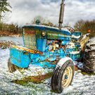 Tractor in Winter by Deri Dority