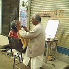 Road Side Barber by Bobby Dar