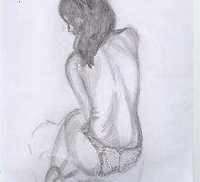 women in knickers line drawing by Kyleacharisse