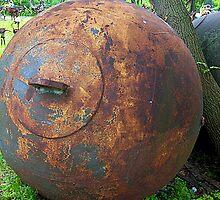 Retired wrecking ball by Andrea Kraemer