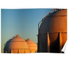 Industrail, Fuel Storage Tanks,Geelong Poster