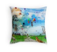 The Land of Stories & Nursery Rhymes Throw Pillow
