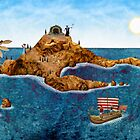 Panorama of the Greek Isles by Stijn Van Elst