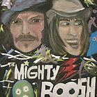 Mighty Boosh Acrylic Abstract Portrait by AleFest