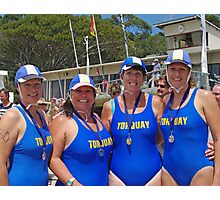 Torquay Masters medalists at Lorne Photographic Print
