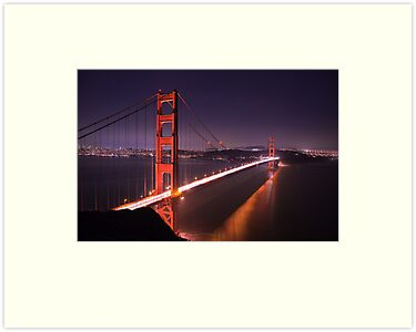Golden Gate Bridge at Night by Nickolay Stanev