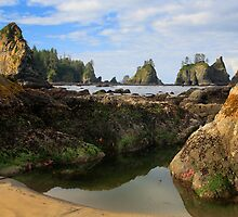 Low Tide at the Arches by Inge Johnsson