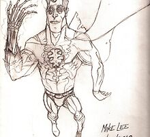 "Super Zombie ""HOT, HOT, HOT!!"" - Pencils by Michael Lee"