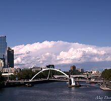 Crossing Yarra-Southgate,Melbourne,Australia by Max R Daely