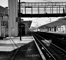 acrossing the footbridge by Franlaval