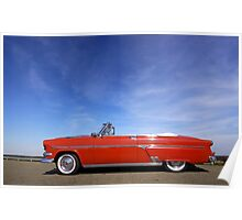 Red Classic Car Poster