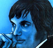 George Best celebrity portrait by Margaret Sanderson