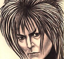 David Bowie celebrity portrait by Margaret Sanderson