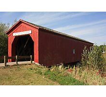 Traditional American covered bridge Photographic Print