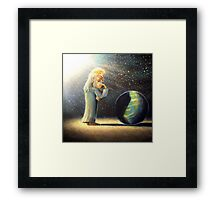 the atheist  Framed Print