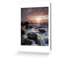 Waves Rush In Greeting Card