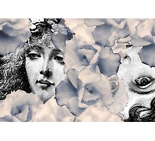 Composition With Faces and Flowers – February 17, 2010 Photographic Print