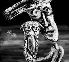 man and owl by Graham Dean