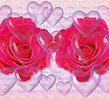 Romantic card with roses by CanDuCreations