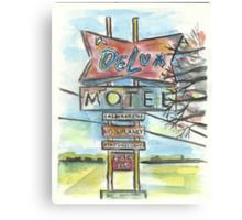 Delux Motel Canvas Print